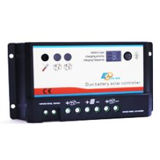 Dual Battery 10A PWM charge controller - EPsolar - Charge starter and leisure battery