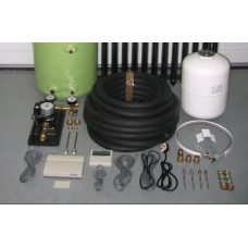 Solar Thermal Parts Kit with controller, pump, expansion vessel and fittings