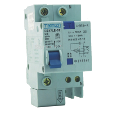 16A AC RCBO DIN Mount Breaker 230V Over current and Leakage protection use from Inverter