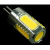 12V LED 5W 360° light G4 Warm White Chip on Board COB