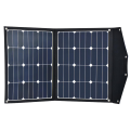 12V 70W portable folding solar panel with built in charge controller - lightweight, SunPower E20 cells, perfect for Hymer, Caravans etc