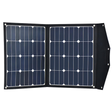12V 80W portable folding solar panel - built in charge controller - lightweight, SunPower E20 cells, perfect for Hymer, T5, Caravans etc