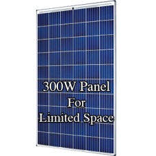 12V 300W complete solar kit with one SolarWorld panel, MPPT controller, 105ah battery and mountings