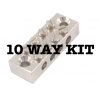 12V DC Wiring Kit with 10 way Blade Fuse Holder, fuses, cable, switches etc