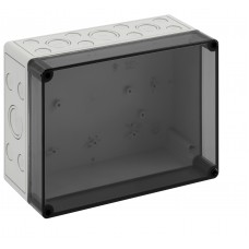 Solar PV Combiner Box Large with Din Rail and translucent cover - for fuse holders and/or junction block