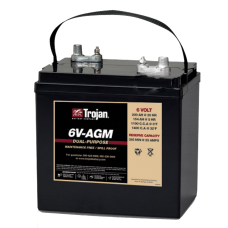 6V Trojan AGM 6VAGM-APW, 6 volt, 200Ah Sealed Lead Acid Battery