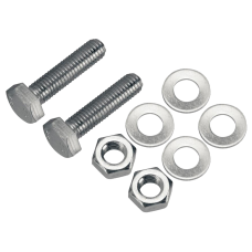 M8 Stainless Bolt Set - 2 x M8 A4 30mm Bolts, Nuts and Washers for L16P
