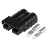 Anderson 50A Black Connector with 6mm terminals - quick cable connect & disconnect