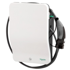 Electric Vehicle Charger 7.4kW Charger with Attached Cable - EVlink 2 - Type 1 or Type 2 plug - 32A