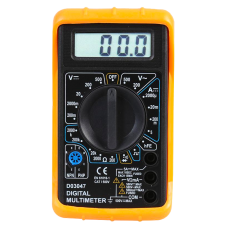 Digital Multimeter 500V AC/DC for setting up and testing your system - including battery