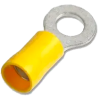 6mm Ring Crimp Terminal Yellow 48A, Bag of 10, for 4mm or 6mm cable