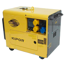 5Kva DIESEL GENERATOR KDE 6700TA KIPOR - With Auto Start, Backup for solar systems of upto 8Kw of solar