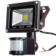 12V 10W LED PIR Flood light - motion detection - security light 12V DC