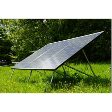 Ground Mount for 4 large solar panels with pole foundations - no concrete necessary