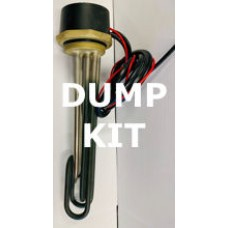 """Solar Heating Dump Kit - with 12V and 240V Twin Immersion heater -  2 1/4"""" BSP, Durite Relay, Cable and more"""