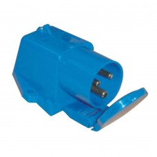 16A Male Surface Mount Socket with cover - 230VAC - for exterior wiring and hook up