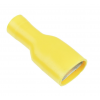 10 x Yellow fully pre-insulated 9.5mm FEMALE SPADE TERMINAL