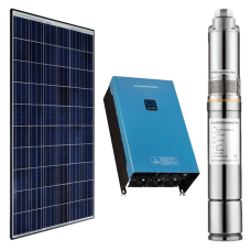 500w DC Solar Water Pumping Kit with 2 x 335W Solar Panels, Inverter and Pump