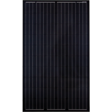 12V 310W complete solar kit with one JA Black Mono panel, MPPT controller, 105ah battery and mountings
